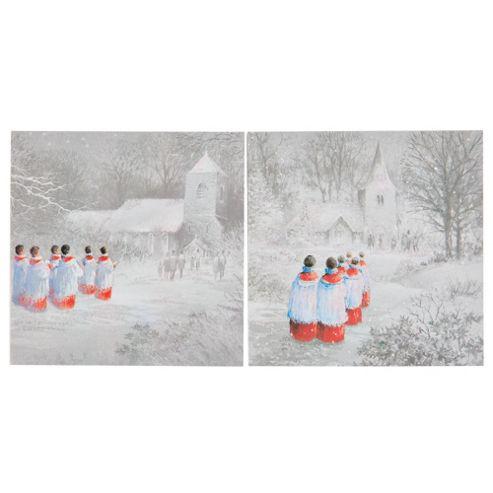Tesco Choir Boy Christmas Cards, 12 Pack