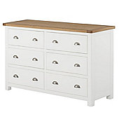 Padstow White Painted 6 Drawer Chest Of Drawers