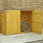 Finewood Pent Wooden Bike Store, 6x2ft