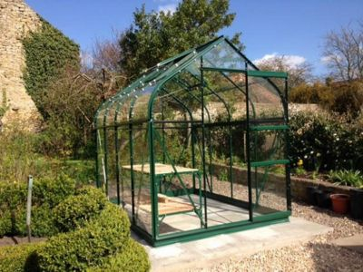 Simplicity Sherwood Green 6x10 Greenhouse Starter Package