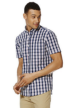 F&F Checked Short Sleeve Shirt - Red
