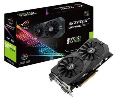 ASUS NVIDIA GeForce STRIX-GTX1050-O2G-GAMING 2 GB GDDR5 128 Bit Memory PCI Express 3 Graphics Card - Black