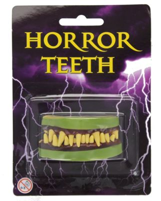 Adults Horror Zombie Teeth Fangs Halloween Fancy Dress Accessory