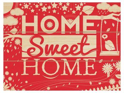 Home Sweet Home Wooden Wall Art