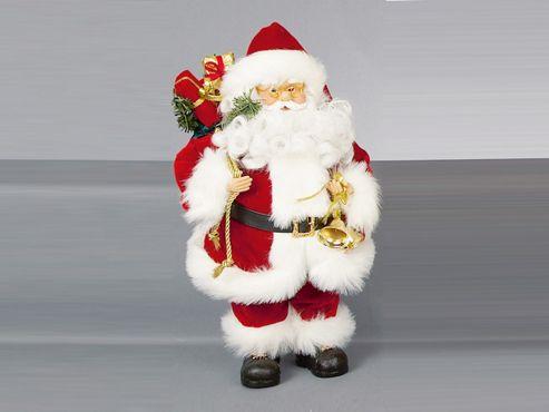 Premdec Pl105717 Trad.Plush Santa + Sack 40Cm