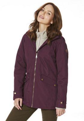 Regatta Brienna Waterproof Hooded Jacket 14 Burgundy