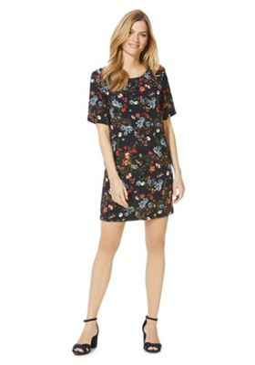Only Floral Print Short Sleeve Dress Multi XL