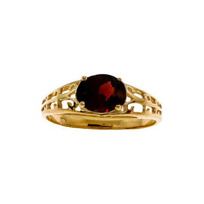 QP Jewellers 1.15ct Garnet Catalan Filigree Ring in 14K Gold - Size Q 1/2