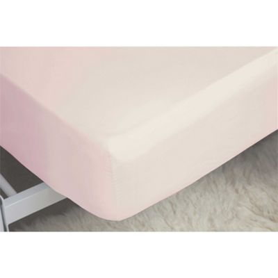 Belledorm Egyptian Cotton 200 Thread Count 12 Inch Powder Pink Fitted Sheet - Single