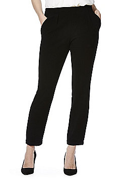 Vero Moda Crepe Turn-Up Trousers - Black