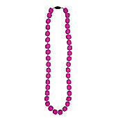 Jellystone Pea Teething Necklace in Dragon Fruit
