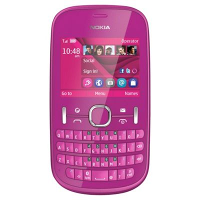 Unlocked Nokia Asha 201 Pink -SIM Free