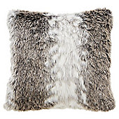 Tesco Grey Faux Fur Cushion