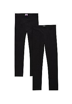 F&F 2 Pack of Leggings with As New Technology - Black