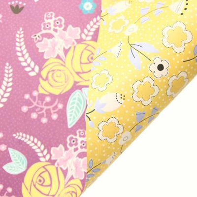 Rosehip Gift Wrap - Double Sided Purple/Yellow
