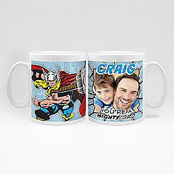 Marvel Personalised Father's Day Thor Photo Mug