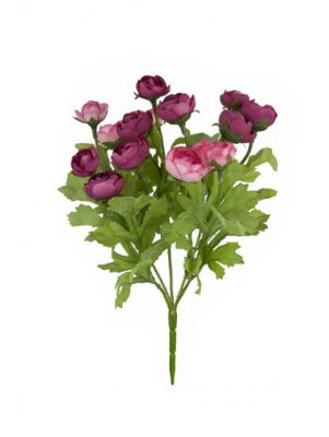 Artificial - Mini Ranunculus Bush - Pink & Mauve