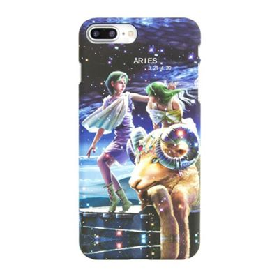 iPhone 8 Plus Aries Star Sign Glow In the Dark Slim Protective Case - Multi