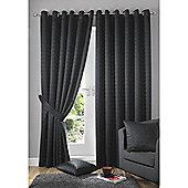 Alan Symonds Madison Eyelet Curtains - Black
