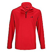 Woodworm Golf Mens 1/4 Zip Pullover / Sweater / Jumper - Red