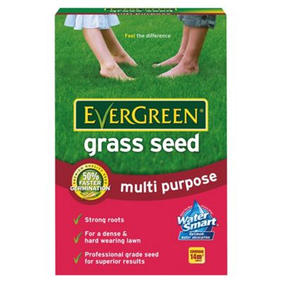 Evergreen Multipurpose Grass Seed 14sqm (15% free pack)