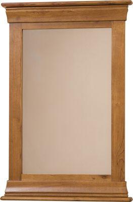 French Chateau Rustic Solid Oak Wall Mirror