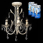 Odelia Vintage Style Ceiling Light - Cream