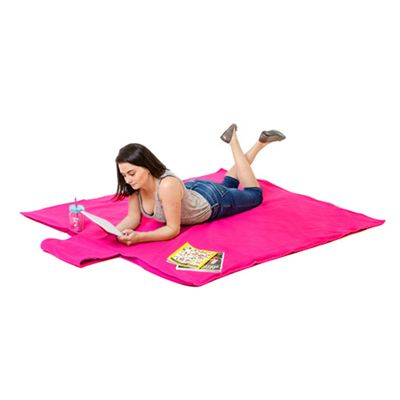 Gardenista Pink Water Resistant Roll Up Picnic Mat with carry Handle