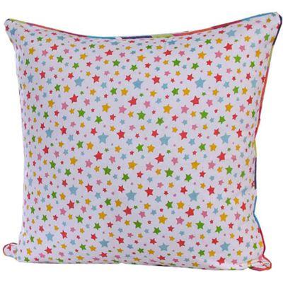 Homescapes Cotton Multi Colour Stars Cushion Cover, 60 x 60 cm