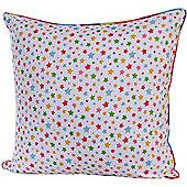 Homescapes Cotton Multi Colour Stars Scatter Cushion, 60 x 60 cm