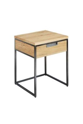 Qubix Industrial Style Side Table