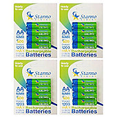 16 x Starmo AA MN1500 1200mAh HR6/1.2V Rechargeable Batteries