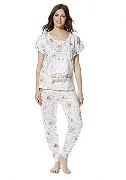 Disney Winnie the Pooh Eeyore Floral Print Pyjamas - Multi