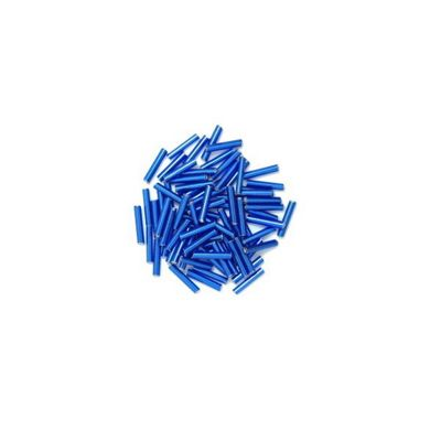 Craft Factory Twisted Bugle Beads 7mm Royal Blue