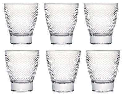 Tavola Luxe Glassware KARO WEAVE Design Glass Tumbler Set of 6 29cl