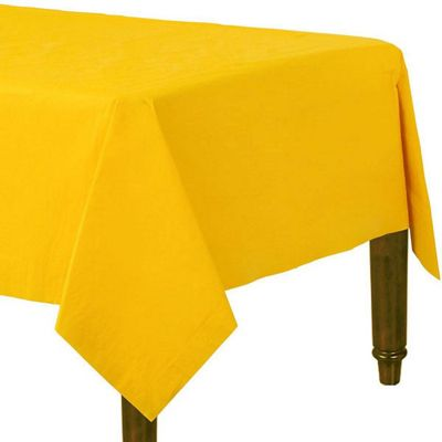 Yellow Tablecover - Paper 1.4 x 2.8m