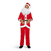 F&F Santa Claus Fancy Dress Costume - Red