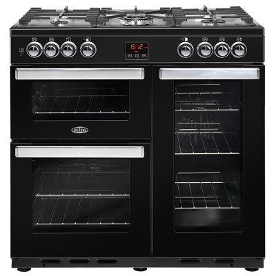 Belling Cookcentre 90DFT - 900mm Dual Fuel Range Cooker, Black