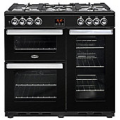 Belling Cookcentre 90DFT - 900mm Dual Fuel Range Cooker, Black