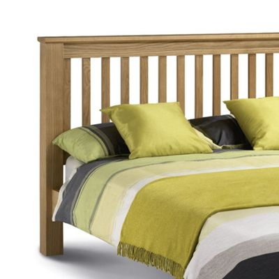 Happy Beds Amsterdam Wood Low Foot End Bed with Pocket Spring Mattress - Oak - 4ft6 Double
