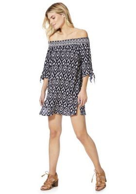 F&F Bardot Beach Dress Navy XS