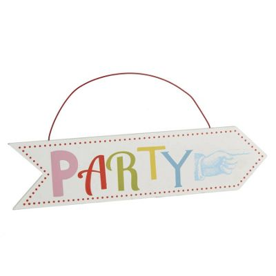 Wooden Party Arrow Sign