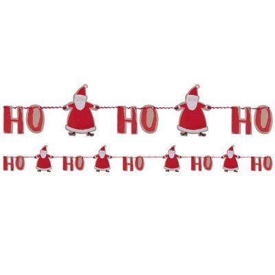 Santa and Friends Paper Ho Ho Ho Bunting - 2m