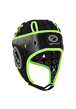 Optimum Atomik Headguard - Black/Yellow - Black