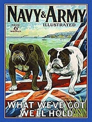 Original Metal Sign Co. Army and Navy Illustrated Metal Wall Sign 40cm x 30cm