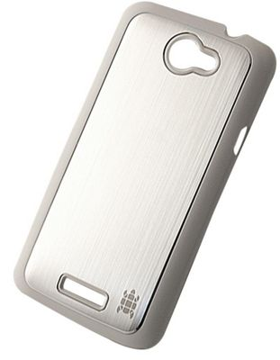 Tortoise™ Hard Case HTC One X Brushed Metal Silver