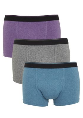 F&F 3 Pack of Hipsters with As New Technology M Purple, Grey & Blue