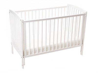 Emmay Cyprus Cot and Mattress - White