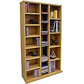 St Laurence - Cd Dvd Blu-ray Media Storage Shelves - Beech