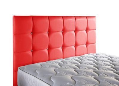ValuFurniture Diamond Leather Headboard - Red - Single 3ft